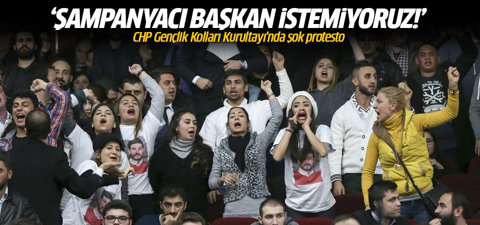 CHP'de şok protesto: Şampanyacı başkan istemiyoruz!