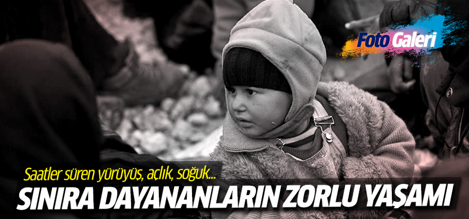Sınıra dayanan Suriyelilerin zorlu yaşamı...