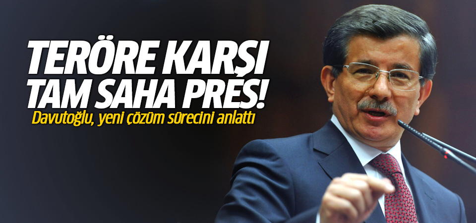 Davutoğlu yeni çözüm sürecini açıkladı!