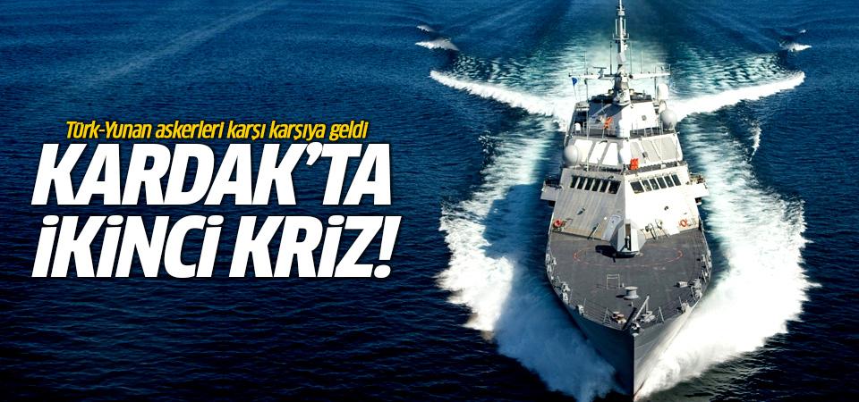Kardak'ta ikinci kriz! Türk-Yunan askerleri karşı karşıya geldi