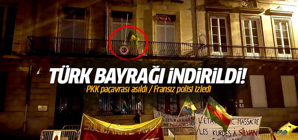 Konsolosluk binasındaki Türk bayrağı indirildi