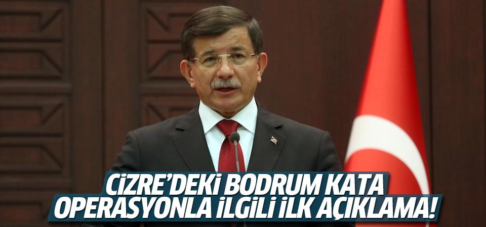 Başbakan'dan Cizre'deki bodrum kata operasyonla ilgili ilk açıklama