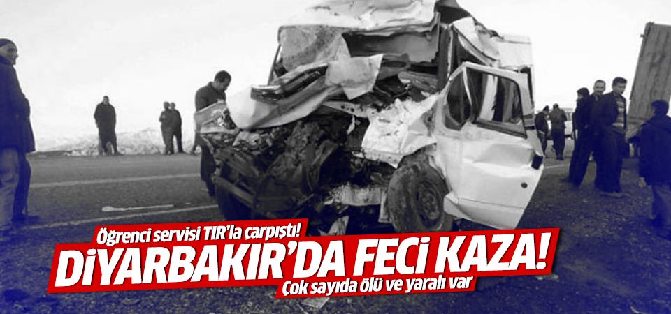 Diyarbakır Lice-Kulp yolunda öğrenci servisi kazası