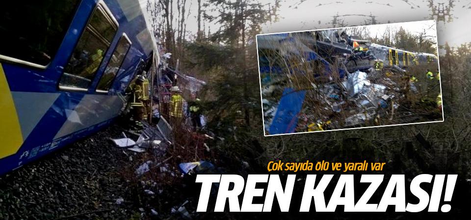 Almanya'da iki yolcu treni kafa kafaya çarpıştı!