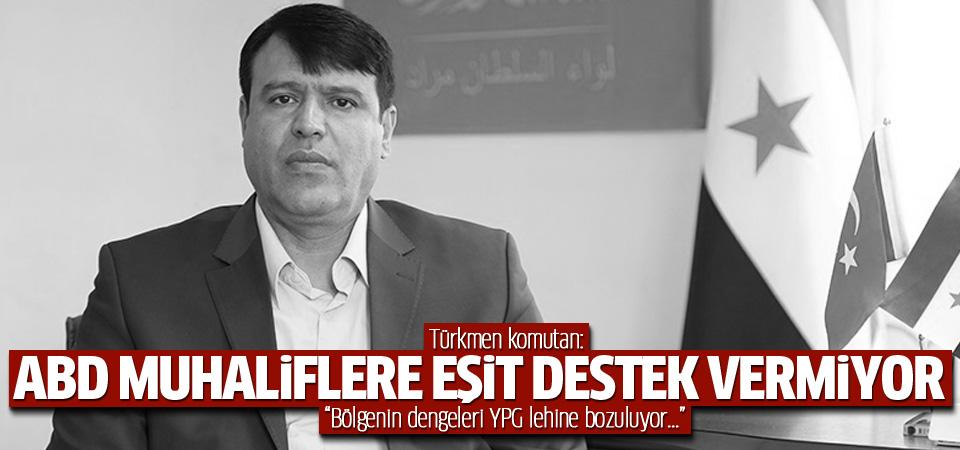 Türkmenler: ABD'yi muhaliflere eşit destek vermiyor