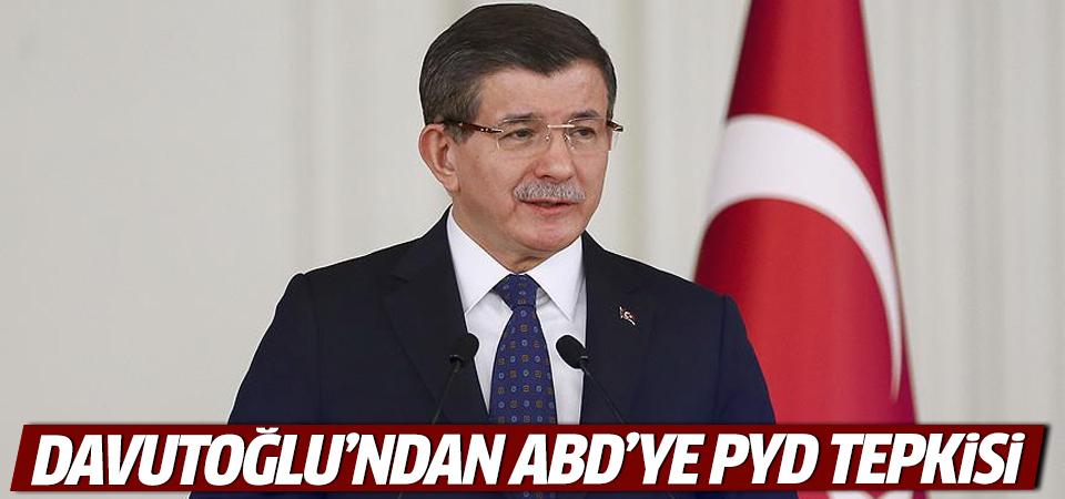 Başbakan Davutoğlu'ndan ABD'ye PYD tepkisi