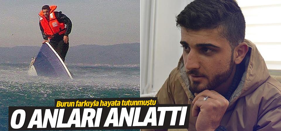 Batan tekneden son anda kurtulan Suriyeli genç o anları anlattı