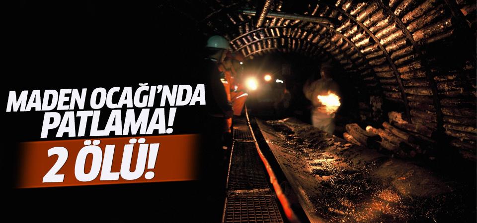 Zonguldak'ta maden ocağında patlama: 2 ölü