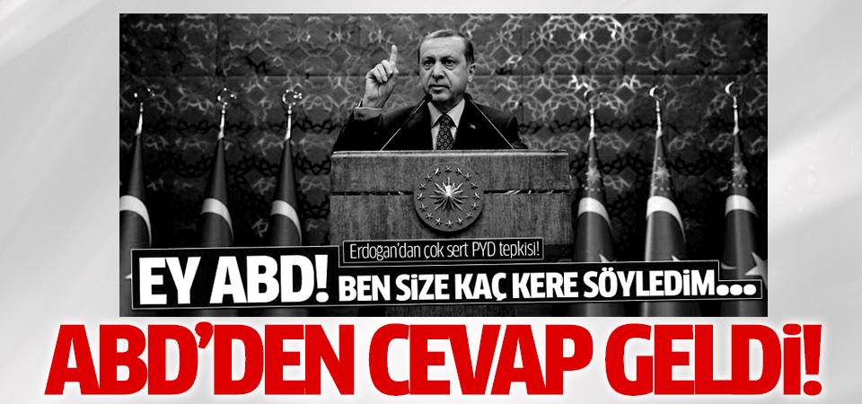ABD'den Erdoğan'a cevap geldi