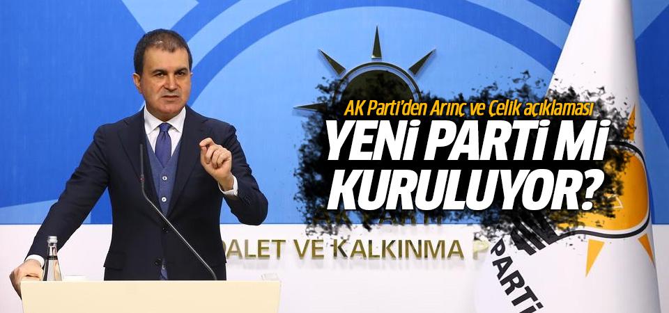 Ömer Çelik'ten yeni parti iddialarına net yanıt