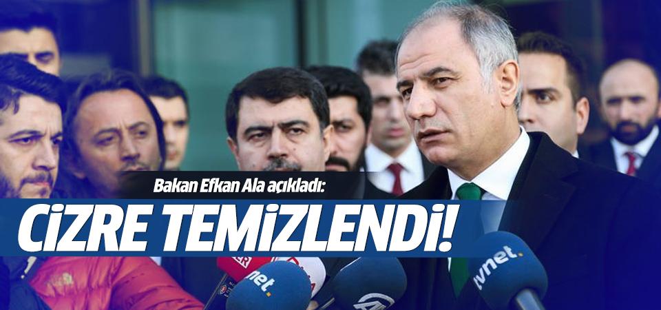 Efkan Ala: Cizre'de operasyon sona erdi