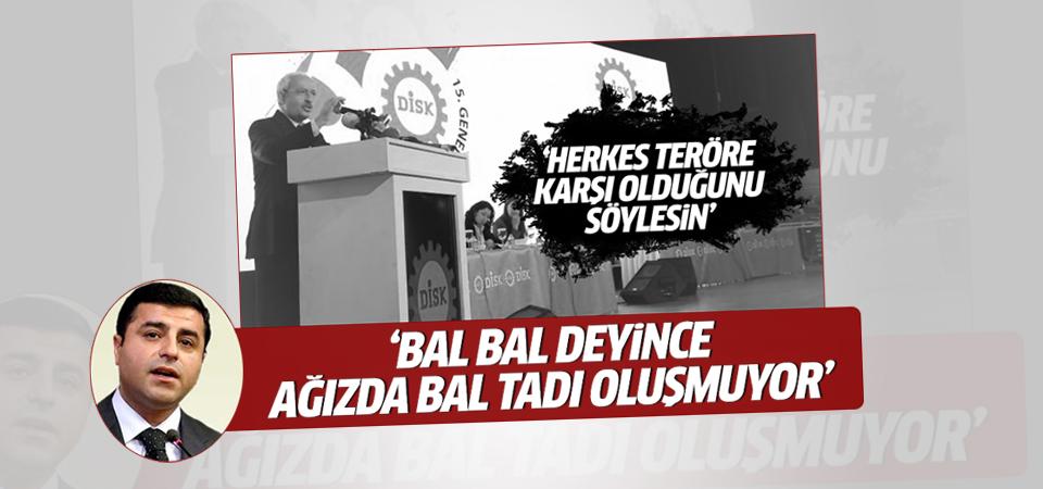 Demirtaş'tan Kılıçdaroğlu'na cevap
