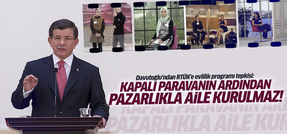 Davutoğlu'ndan RTÜK'e evlilik programı tepkisi!