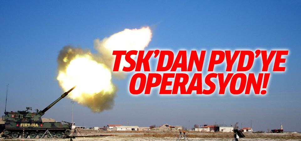 TSK, PYD mevzilerini vurdu!