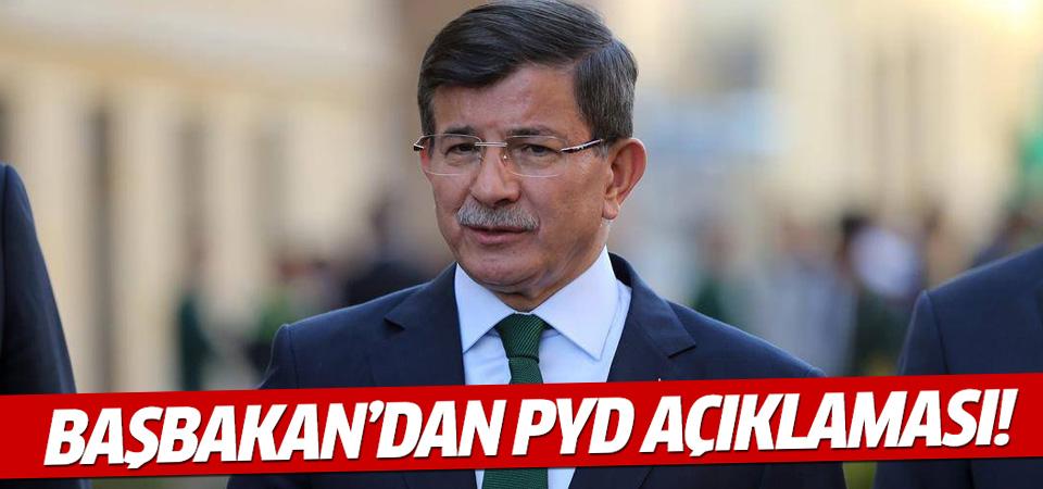 Davutoğlu'ndan PYD'nin vurulması ile ilgili açıklama!