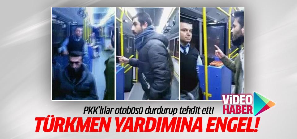 Türkmenlere giden yardıma PKK engeli!
