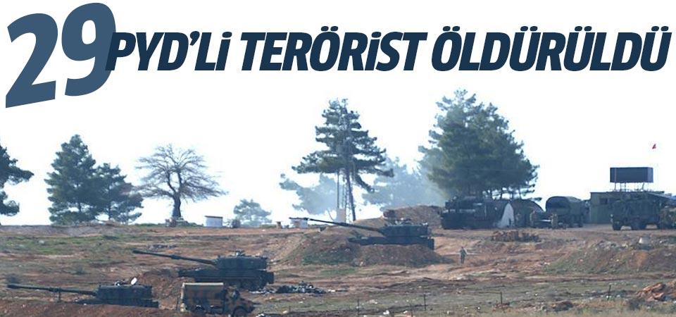 29 PYD'li terörist öldürüldü