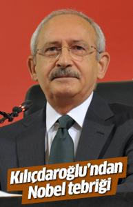 Kılıçdaroğlu'ndan Sancar'a tebrik
