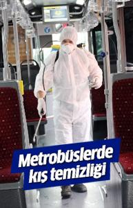 Metrobüslerde kış temizliği