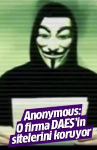 Ananymous'tan DAEŞ açıklaması: O firma koruyor